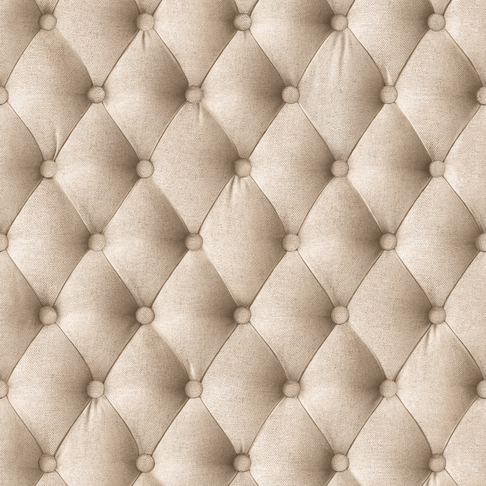 Designer wallpaper beige linen padding koziel murivamuriva for Padded wall wallpaper