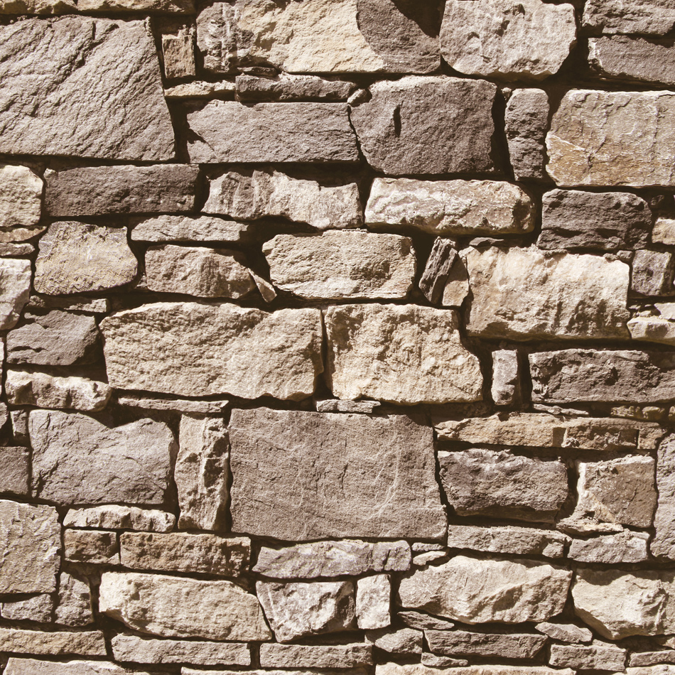 Mural wallpaper dry stone wall murivamuriva for Brick mural wallpaper