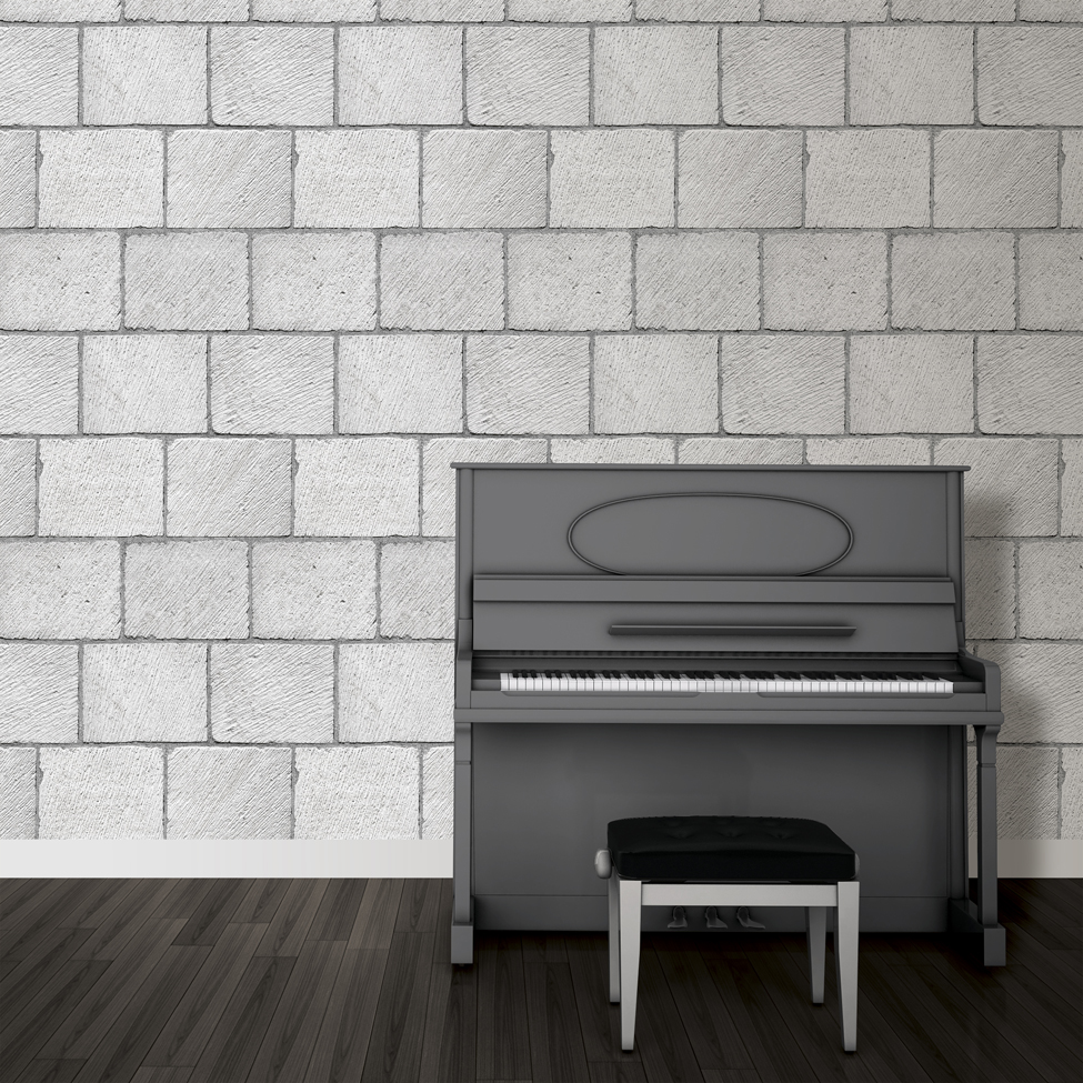 Mural wallpaper brick blocks muriva j649 murivamuriva for Brick mural wallpaper