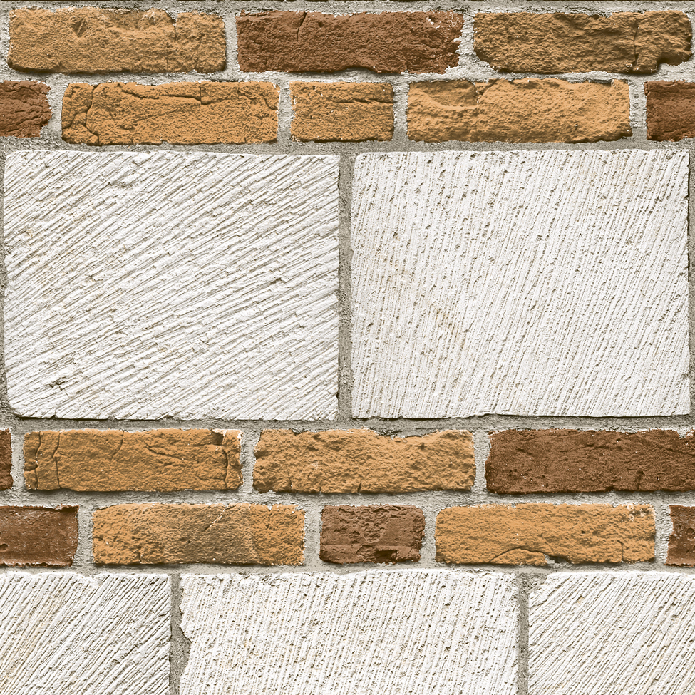 Mural wallpaper large bricks muriva j648 murivamuriva for Brick mural wallpaper