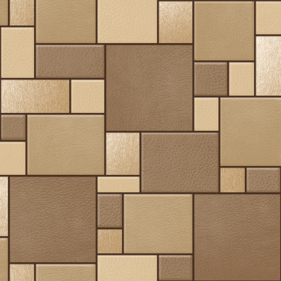 Designer wallpaper leather tiles koziel f957 murivamuriva for Wall tile planner