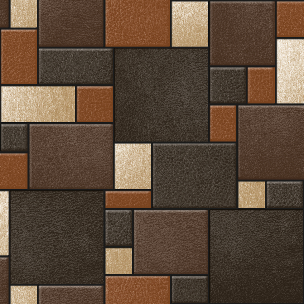 Designer Wallpaper Leather Tiles Koziel F957 - MurivaMuriva