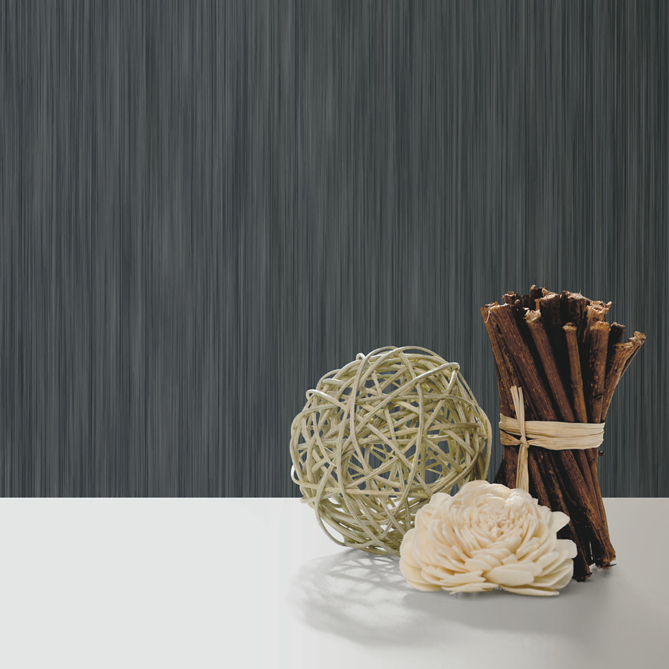 Textured Wallpaper Hera Black Muriva J91039 Roomshot