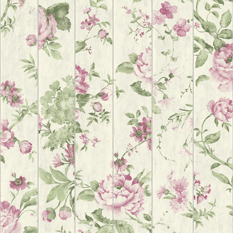 Mural wallpaper flowers on wood muriva l136 murivamuriva for Mural of flowers