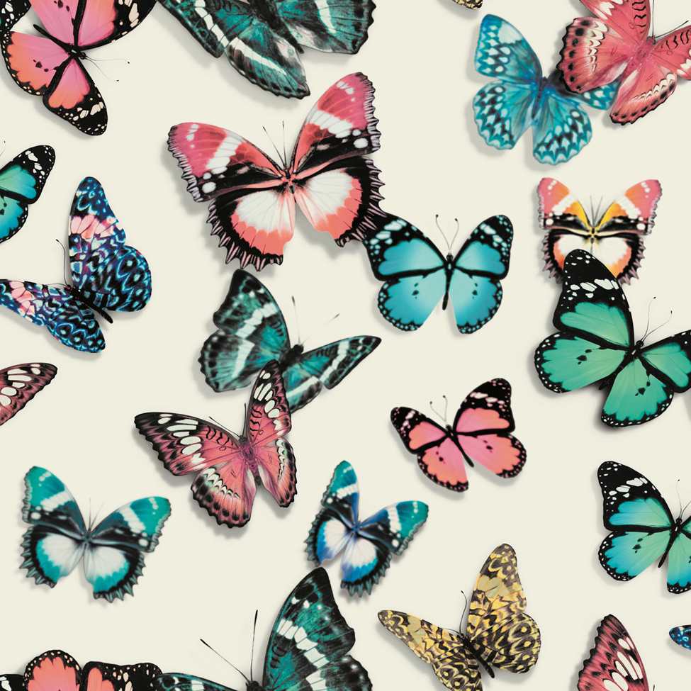Modern wallpaper flutterby muriva l137 murivamuriva for Flutterby wallpaper