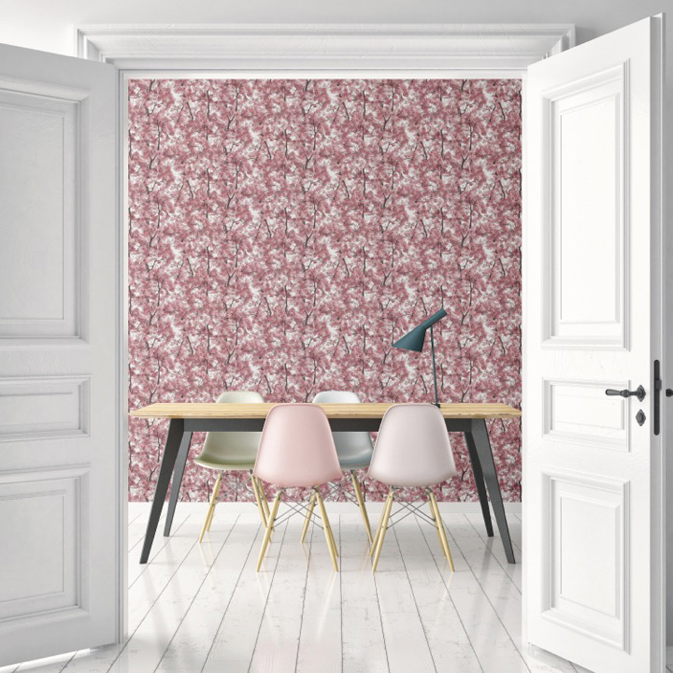 Floral Wallpaper Canopy Pink Muriva L33103 RS