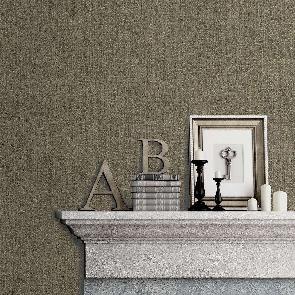 Textured Wallpaper Hadrian Brown Muriva A04518 Roomshot