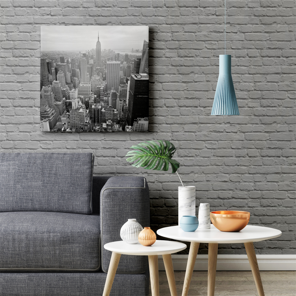 Mural wallpaper painted brick muriva l226 murivamuriva for Brick mural wallpaper