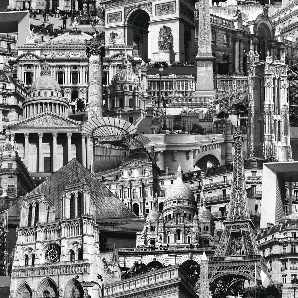 City Scape Wallpaper Paris Muriva