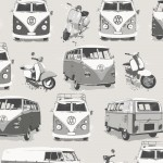 VW Camper Van Wallpaper Retro Muriva 902516 WP
