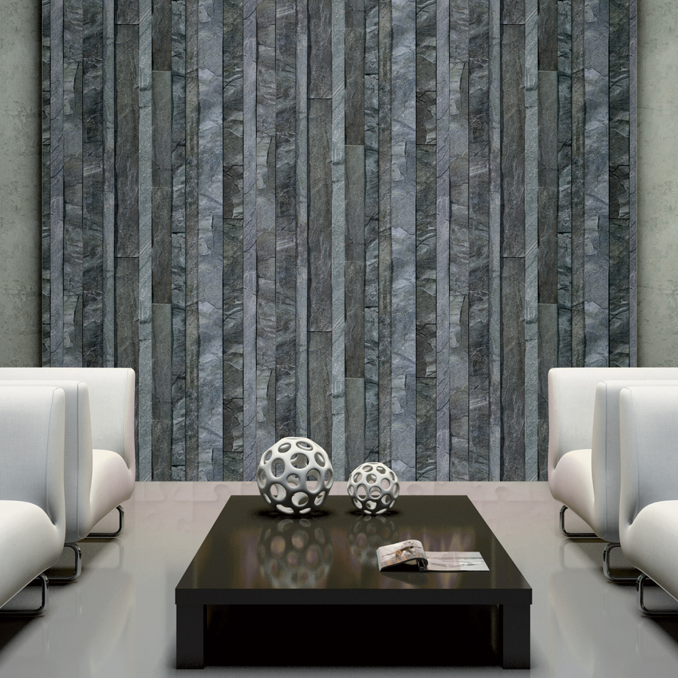 Designer Wallpaper Vertical Slate Koziel