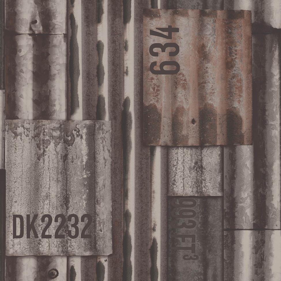 Mural Wallpaper Corrugated Plates Muriva J875 Murivamuriva