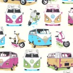 VW Camper Van Wallpaper Retro Muriva J05951 WP