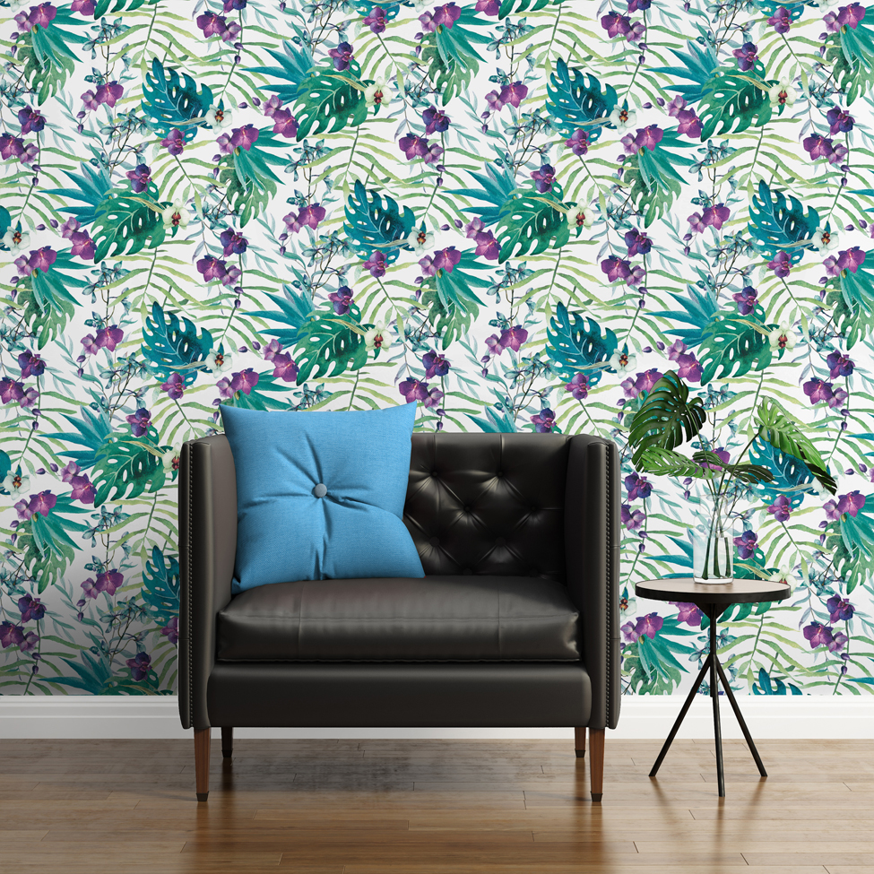 Floral Wallpaper Tropical Floral Muriva 601557 Muriva