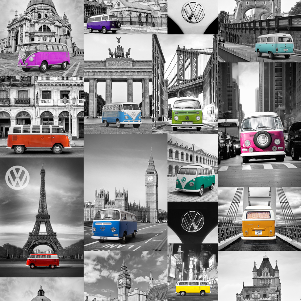 Modern Wallpaper VW City Campers Muriva 601541 WP