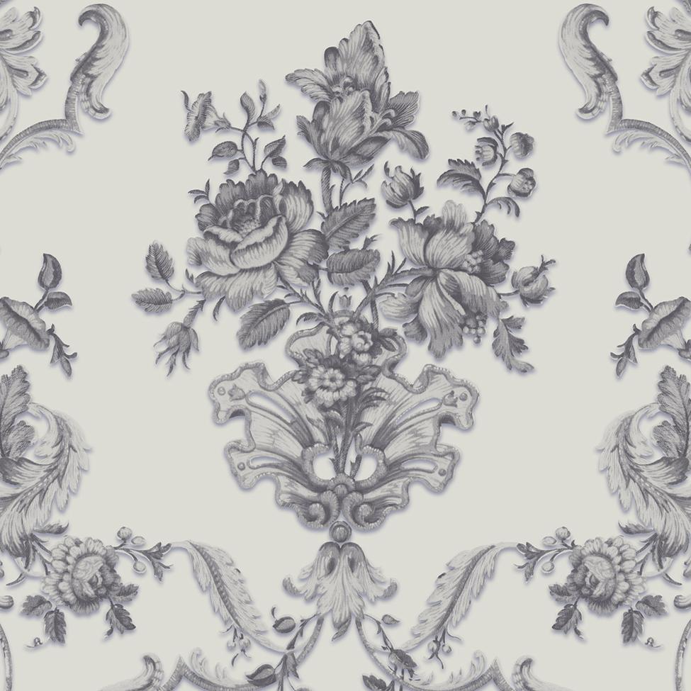 Classic Wallpaper Charlotte Floral 1842 Muriva