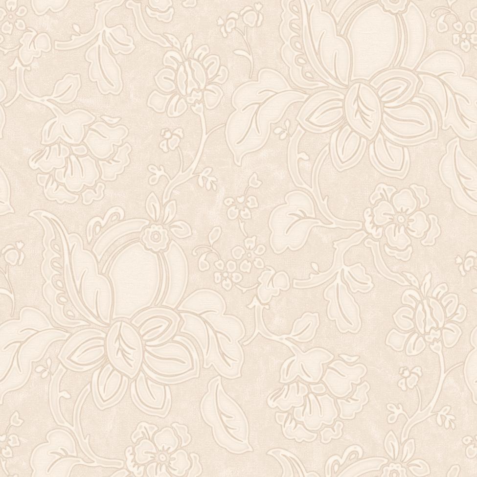 Classic Wallpaper Sabina Floral Cream&Beige Muriva 15186