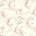 Classic Wallpaper Crete Scroll Coral Muriva J83605