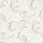 Classic Wallpaper Crete Scroll Brown Muriva J83609