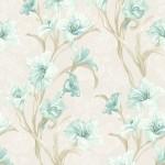 Floral Wallpaper Wild Iris Blue Muriva J83801