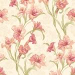 Floral Wallpaper Wild Iris Coral Muriva J83805