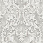 Classic Wallpaper Grecian Scroll Silver Muriva J85290
