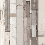 Mural Wallpaper Plank Stripe Grey Muriva L10409