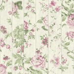 Mural Wallpaper Flowers on Wood Pink Muriva L13603