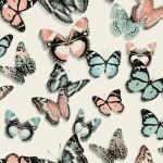 Modern Wallpaper Flutterby Coral Muriva L13703