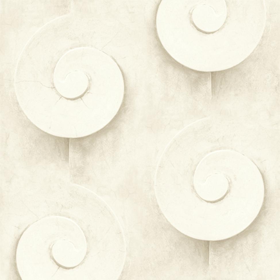 Mural Wallpaper Scroll Mouldings White Muriva L13907