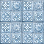 Modern Wallpaper Celtic Tiles Blue Muriva L14301