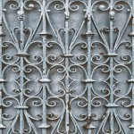 Mural Wallpaper Iron Trellis Blue Muriva L14701