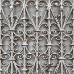 Mural Wallpaper Iron Trellis Grey Muriva L14708
