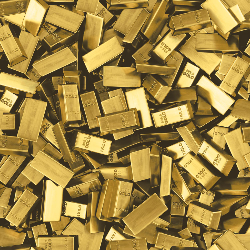 Mural Wallpaper Gold Bars Muriva L16612