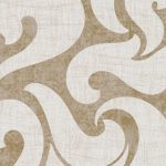 Classic Wallpaper Rae Scroll Ivory & Gold Muriva 53142