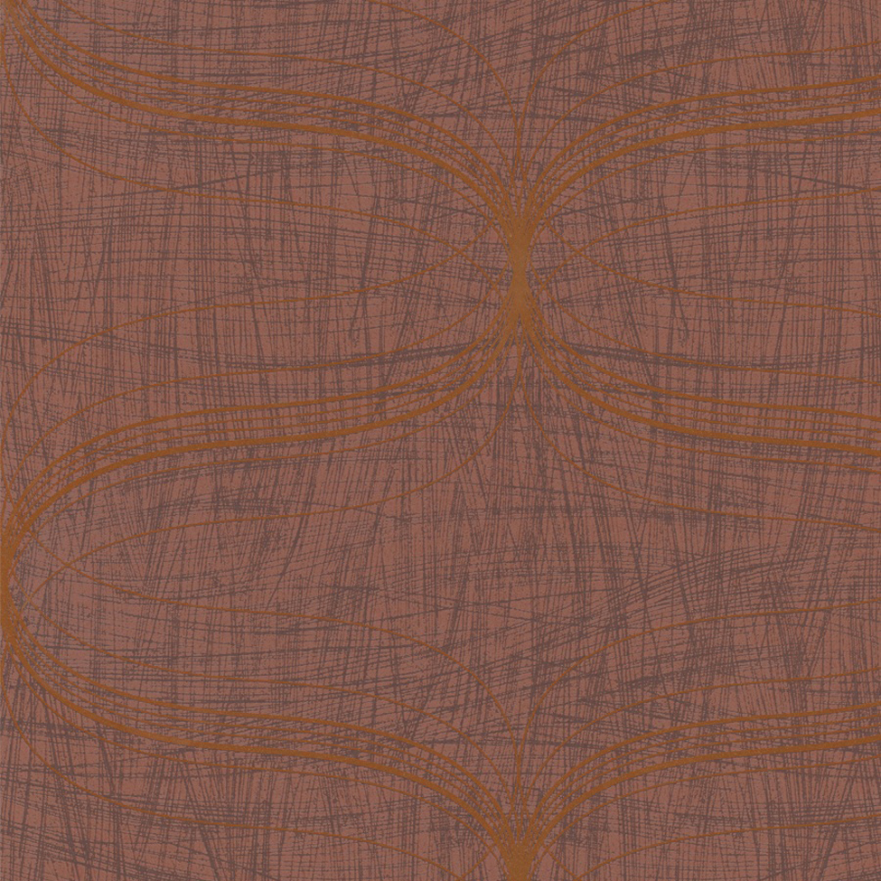Classic Wallpaper Lyra Geometric Copper Muriva 53149