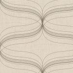 Classic Wallpaper Lyra Geometric Copper Muriva 53153
