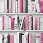 Modern Wallpaper Fashion Library Pink Muriva 139501