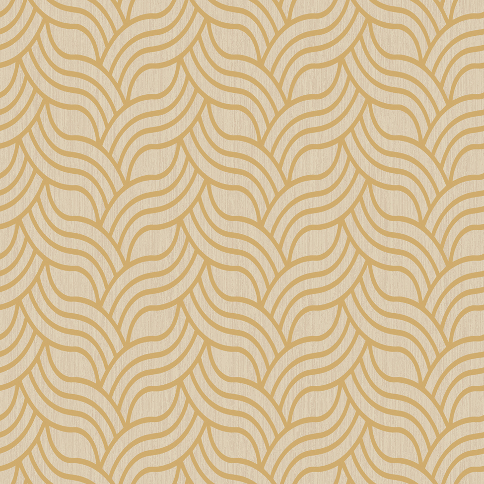 Classic Wallpaper Precious Silks Art Deco Gold and Beige Muriva 601534