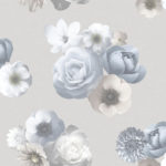 Floral Wallpaper Aurora Blue Grey Muriva 142504