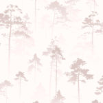 Modern Wallpaper Sherwood Misty Rose Muriva 143501