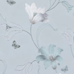 Floral Wallpaper Amelia Floral Duck Egg Blue 701412