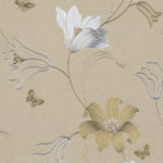 Floral Wallpaper Amelia Floral Gold 701413