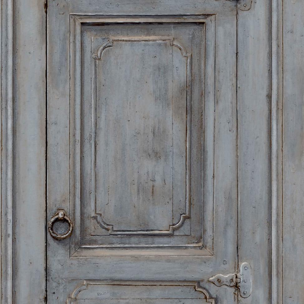 Modern Wallpaper Rustic Cupboard Blue Muriva L11701 WP