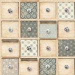 Modern Wallpaper Craft Drawers Natural Muriva L32607 WP
