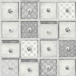 Modern Wallpaper Craft Drawers Grey Muriva L32609 WP