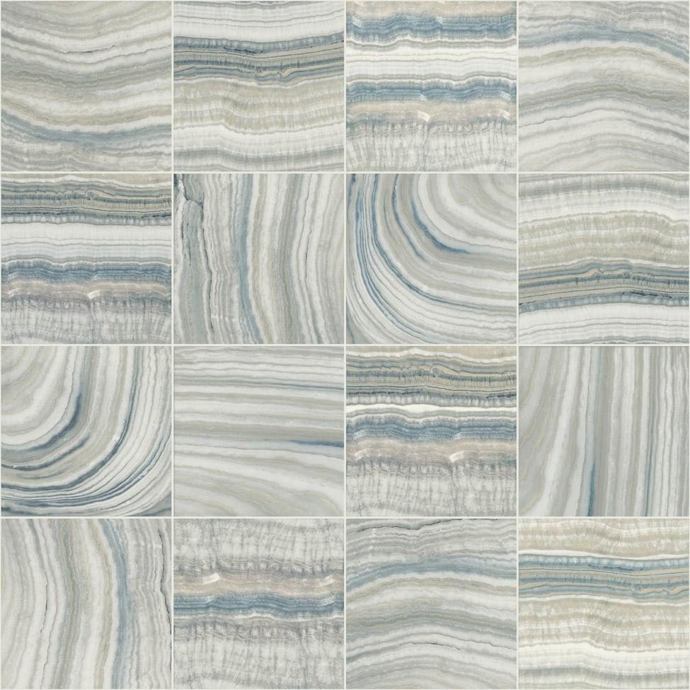 Modern Wallpaper Mineral Tiles Blue Muriva L32801 WP