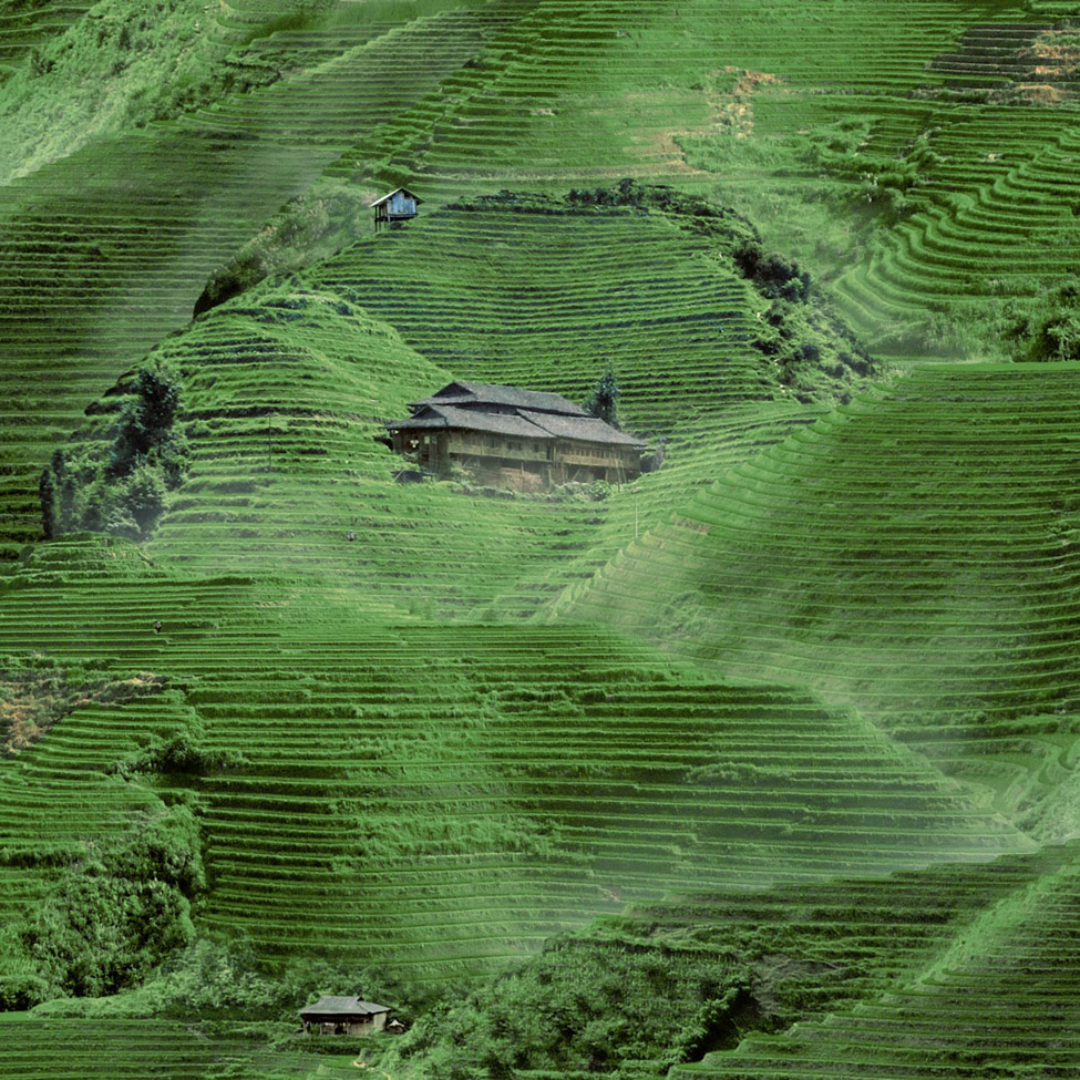 Modern Wallpaper Hills of China Muriva L32904 WP