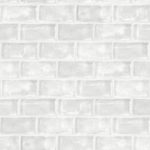 Modern Wallpaper Ceramic Tiles White Muriva L33209 WP
