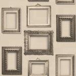 Modern Wallpaper Vintage Frames Sepia Muriva L35107 WP
